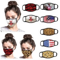 Women Funny Face Mask Reusable Cartoon Print Designer Dustproof Mask Ultraviolet-proof Washable Running Riding Bike Protective Mask HH9-3021