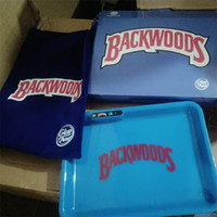 Backwoods LED Brilho Bandeja 7 cores de iluminação Titular LED rolamento Bar Entretenimento Dab bandeja com Retail Box Carry Bag