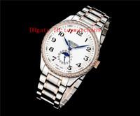 Nuevo Master Collection reloj del diamante del reloj para hombre Cal.L600 automática Luna calendario anual fase de zafiro de la madre-de-perla de acero 316L CNC