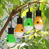 5 цветов 3LED Кемпинг лампы мигалки Открытый палатки Лампы рождественские украшения висячие Светится Портативные фонарики ZZA2338 200Pcs