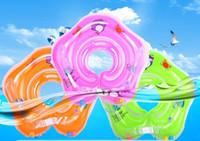 Anello gonfiabile neonato del collo dell'anello di nuotata del bambino ha regolato il giocattolo gonfiabile del tubo di sicurezza dell'anello del tubo regolato del bambino