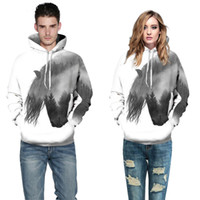 3D Fashion Horse Lover Couple Serials digital printing hoode...