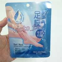 ROLANJONA feet mask Milk and Bamboo Vinegar Feet Mask skin P...