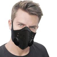 الغبار قناع مكافحة التلوث التنفس PM2.5 الغبار سلامة قناع قابل للغسل ركوب PM2.5 الغبار 1PCS