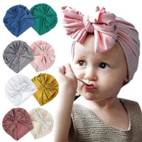 New Autumn Winter Infant Baby Girls Hat Bokwnot Headwear Chi...