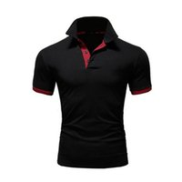 Mode Hommes Polos Designer 2020 New Summer Hommes Marque Polos Respirant Slim manches courtes T-shirt 10 couleurs Taille S-5XL