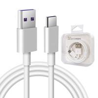 cable de carga USB cable de datos c extensión de carga rápida de tipo C de sincronización para el cable micro USB de Samsung con el empaquetado al por menor cable de 1m 2.4A