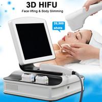3D HIFU الوجه رفع الجسم آلة التخسيس إزالة التجاعيد 12 خطوط مع 8 خراطيش 8 * 10000 طلقات