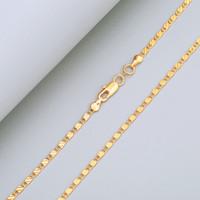 100 قطع 2 ملليمتر 18 كيلو الذهب مطلي قلادة سلسلة شقة للمرأة جراد البحر المشابك السلس سلسلة diy مجوهرات