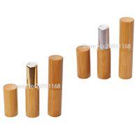 20 pcs 12.1mm natural batom bambu tubo diy labial vazio embalagem cosmética recipiente 4.5g lip gloss tube shell qualidade superior