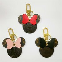 Ratte Jahr Designer Unisex Luxus Keychain Geldbörse Anhänger Taschen Autos Ketten Schlüssel Ringe Für Frauen Geschenke Frauen Maus Leder Schlüsselanhänger mit Box