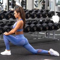delle donne di sport del vestito femminile sportivo per la donna di ginnastica Abbigliamento Fitness Donna Sport Wear abbigliamento sportivo insieme delle 2 parti Leggings