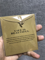 With card! little gift cute Dogeared Necklace with bird(life...