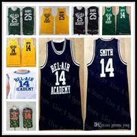 Billige Männer Frischer Prinz von Bel-Air-Film genäht Basketball 14 Will Smith 25 Carlton Banken alle genähten Trikots hochwertige bestickte Hemden