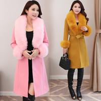 ABRIGOS Frauen 2020 Neue Herbst Winter Kaschmir Mantel Große Größe Wollmantel Frauen Koreanische lange Wolle Mantel Weiblich mit Gürtel Z959