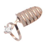 SHUNXUNZE جميل سحر الفاخرة 925 الفضة الاسترليني مشاركة ظفر الإصبع خواتم أنثى مجوهرات للنساء لطيف أبيض زركون S-3768