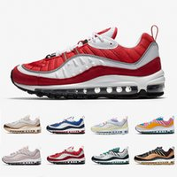 Nike air max 98 airmax Gym Red 98 mens running shoes South Beach Gundam Barely Rose Gold Easter 98s Walking men women trainers outdoor sports sneakers 36-45