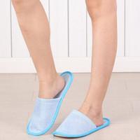 Einweg-Hausschuhe Anti-Rutsch-Baumwollleinenschuhe Hotel SPA Home Guest Schuhe Komfortable atmungsaktive Soft Einmalige Slipper LXL495-A