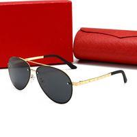 Diseñador de alta calidad para mujer gafas de sol hombres lujo antiguo hombre moda conducción polaroid lentes vasos adumbral con caja 20color