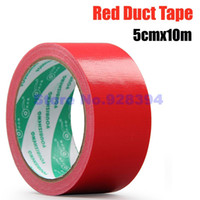 Wholesale- 2016 5cmx10M Single- sided Red Carpet Cloth Duct Ta...