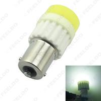 Hurtownie Biały BA15S 1156 / S25 COB 10W Ceramic Crystal Led Light Car Led Bulb Reverse Turn Lights Backup Light # 2714