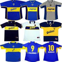 Retro Boca Juniors Maradona Classic Soccer Jersey 95 97 98 99 00 01 02 03 04 05 Camicia da calcio Roman Palermo Riquelme Tevez