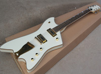 Wholesale Unusual Shaped White electric guitar with Rosewood...