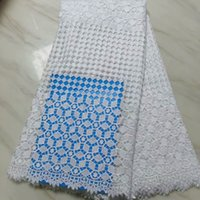 Für Nigerianisches Brautkleid Material Nizza Afrikanische Schnur Lace Net Stoff 5 yards Hohe Qualität Schweizer Wasserlösliche Spitze Tissu Africain