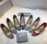 Стильные новые элегантные женские бриллиантовые каблуки, классический стиль дизайна мелкий рот заостренный Алмаз сексуальные женские свадебные каблуки + коробка