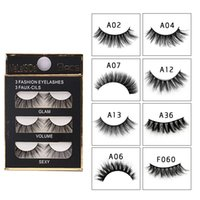 3 Pairs Eyelashes Thick 3D False Eyelashes Handmade Eye Lash...