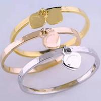 Haben Briefmarken Beliebte Modemarke T-Designer zwei Herz-Armbänder für Dame Entwurfs-Frauen-Partei-Hochzeit Liebhaber Geschenk Luxus-Schmucksachen mit für Br