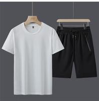 Mens Designer Tracksuits Swears Traje de verano 2020 Luxury Designer Ropa Yu7DXSW Mangas cortas Jersey con jogger Casual Pantalones Trajes Homme