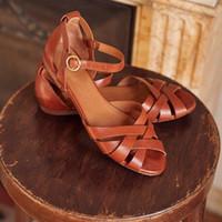 Большие сандалии размера женщина полый дизайн обувь Пряжка ремешка сандалия дышащих студенты обувь лето сторона открытой обувь тропики квартира zy722
