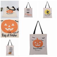 Presente do Dia das Bruxas Sacks Halloween bolsa para compras Sacos de mão presente de doces Sacos presentes Bolsas crianças Organizador Halloween Decorations 6 Designs XH1233
