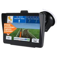 Auto Car 7 Polegada Navegador GPS com Sunshade Shield 8GB 256MB Truck Sat Nav FM Bluetooth Avin Navegação Lifetime Maps Atualizações