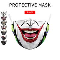 buffo cotone stilista di moda faccia maschera riutilizzabile maschera teschio pirata digitale Sport Halloween Cosplay maschere partito maschera protettiva