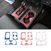 Cambio de engranaje de la caja del sostenedor de taza Panel de ajuste de la cubierta de aleación de aluminio para Ford F150 2016+ Auto Accesorios Interior