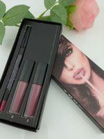 Yapışmaz Kupa Su geçirmez ruj kalemi Dudak 2 + 1 dudak 3 renk karışık renkli Günlük dudaklar Kozmetik makyaj set