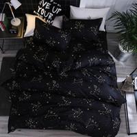 4 stücke Bettwäsche Set Quilt Cover Kissenbezug Polyester Faser Polyester Dream Star Modern Creative Print In voller Größe