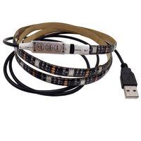 RGB LED Light Strip Kit TV Luminária 5V USB Lâmpada Flexível com 17 Keys RF Controlador Remoto para Televisão de Televisão Plana