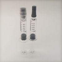 0.8ml 1ml Luer Lock Injuector Glass E Sigaretta Strumento di riempimento della sigaretta Pyrex Siringa Borosilicato per 510 cartucce Accessori E-cig