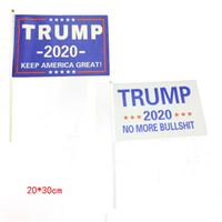 دونالد ترامب العلم الأميركي إبقاء أعلام أمريكا راية العظمى لعام 2020 رئيس الولايات المتحدة الأمريكية 20 الانتخابات 30CM *