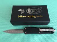 Quente! Grande MT A07 dupla ação o facas automáticas Damascus Steel EDC faca de bolso tático frente BM42 facas engrenagem de acampamento com bainha