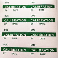 600pcs 50x25mm CALIBRATION for quality control, green color ...