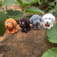 40pcs / lot piccola Happy Puppy Teddy Statua Figurine Micro Mestieri dell'ornamento Miniatures fai da te Casa Garden Decor