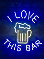 New Star Neon Sign Factory 19X15 pollici Real Glass Glass Sign Light per Beer Bar Pub Garage Room AMO QUESTO BAR.