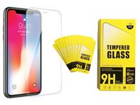 Para iphone xs max xr vidro temperado iphone x 8 8 além de protetor de tela para iphone 7 7 plus 6 6 plus film 0.33mm 2.5d 9 h pacote de papel