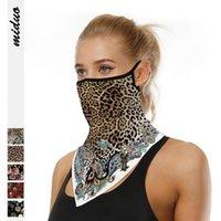 Леопард висит ухо маска треугольник шарф Гепард цифровой печати маска для лица Открытый альпинизм анти пыль дышащий волшебный тюрбан LJJO7913