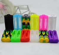 Silikon Cilt Kapak Güvenli Koruma Korumak için Renkli Kauçuk Kılıflar Pil Sony Çift Çift Koruyucu 18650 piller