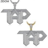 Мужчины хип-хоп Замороженный из шика TAP Letters кулон ожерелья Pave настройки фианиты мода прохладно хип-хоп ожерелья ювелирных изделий подарка